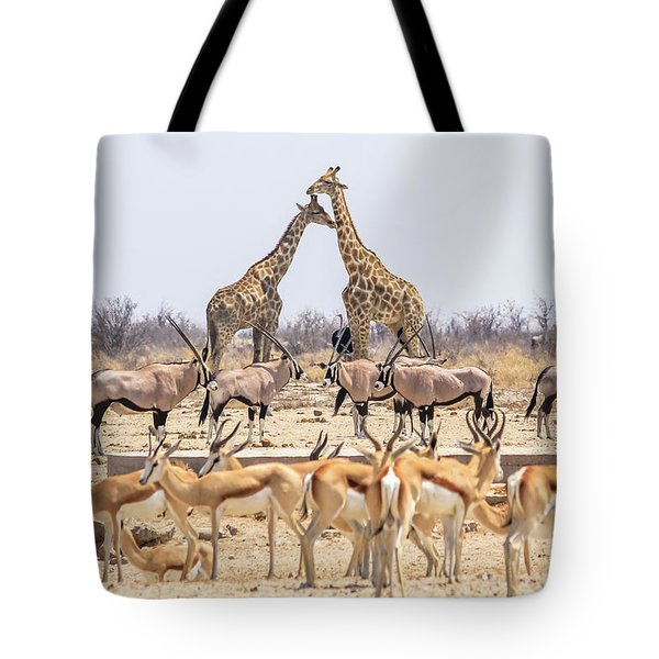 Tote Bag featuring the photograph Wild Animals Pyramid by Benny Marty
