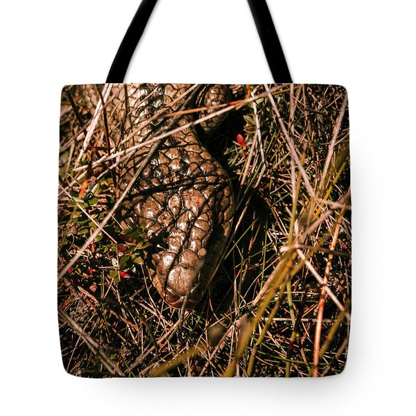 Wild Australian Blue Tongue Lizard Tote Bag
