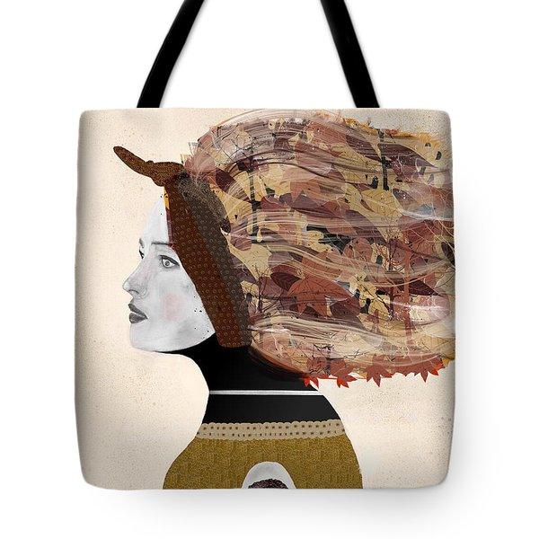 Tote Bag featuring the painting Wild Autumn by Bri B