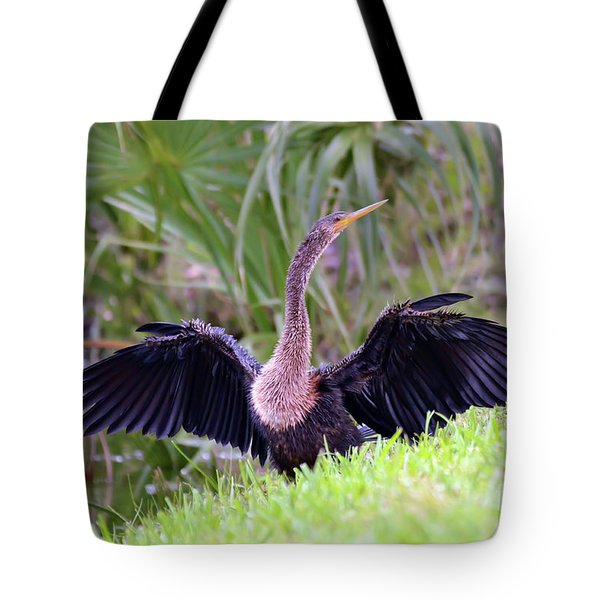 Tote Bag featuring the photograph Wild Birds - Anhinga by Kerri Farley