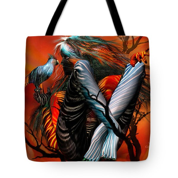 Wild Birds Tote Bag by Carol Cavalaris