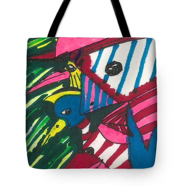 Tote Bag featuring the painting Wild Birds by Don Koester