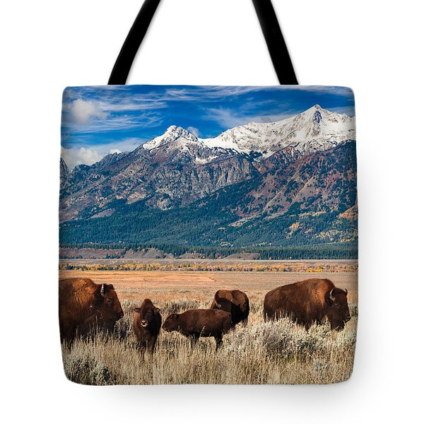Wild Bison On The Open Range Tote Bag