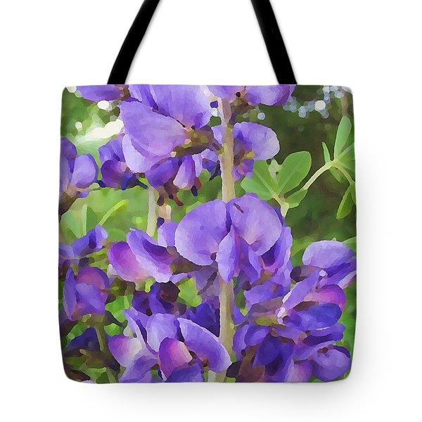 Wild Blue False Indigo Tote Bag