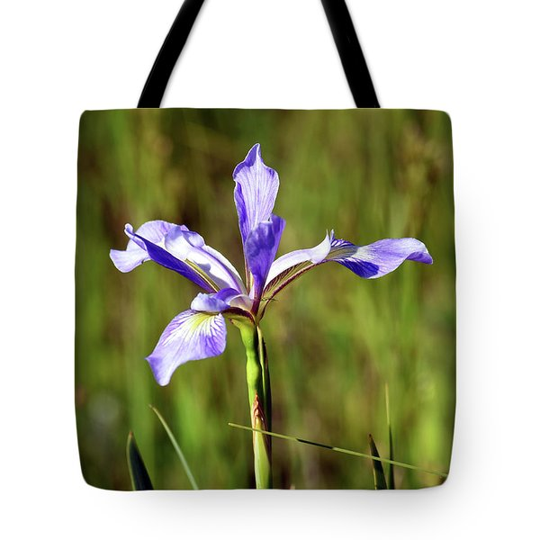 Tote Bag featuring the photograph Wild Blue Flag Iris by Sally Sperry