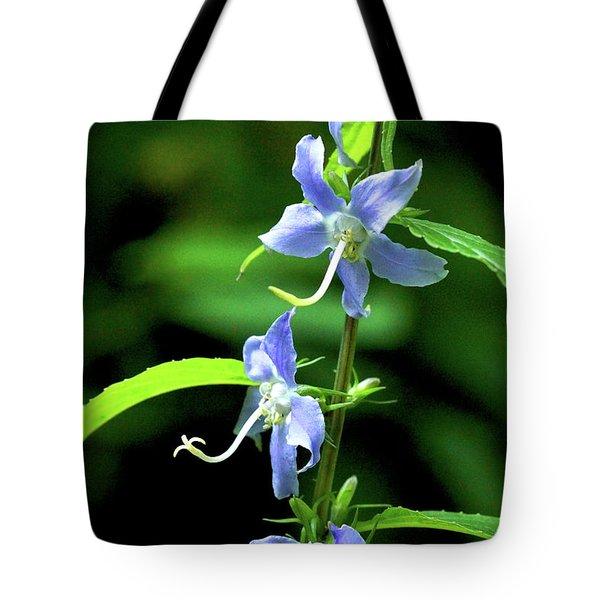 Wild Blue Flowers Tote Bag