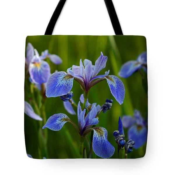 Wild Blue Iris Tote Bag