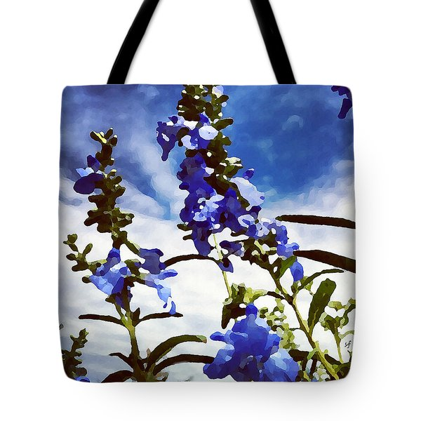 Wild Blue Sage  Tote Bag