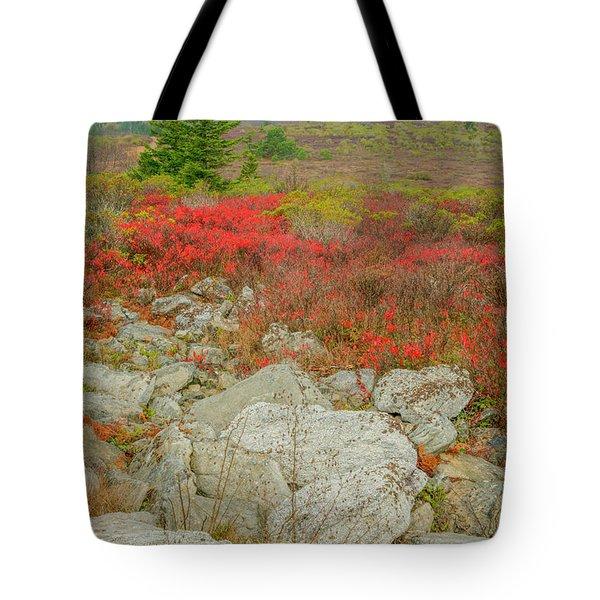 Wild Blueberries Tote Bag