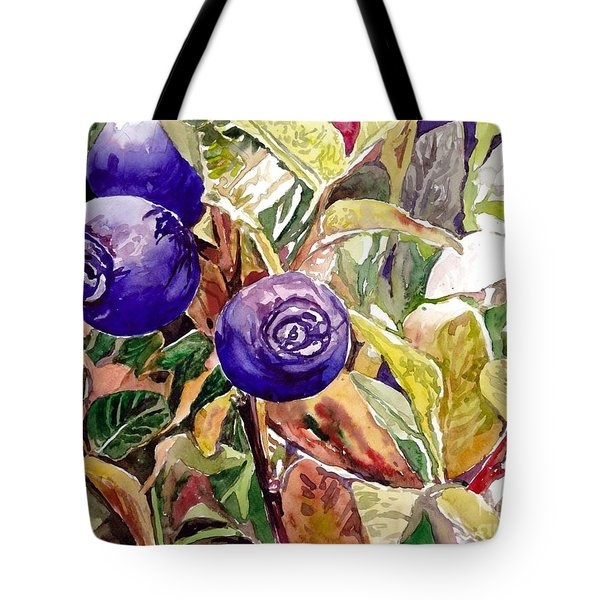 Wild Blueberries Tote Bag