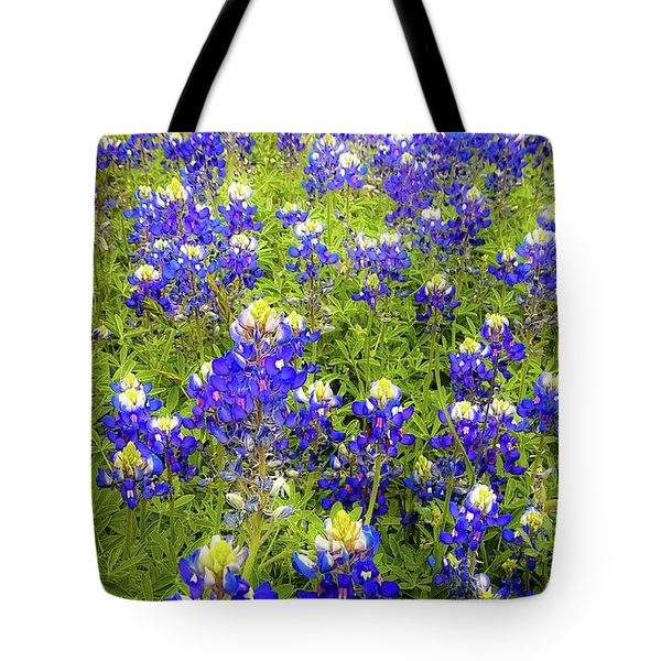 Wild Bluebonnets Blooming Tote Bag