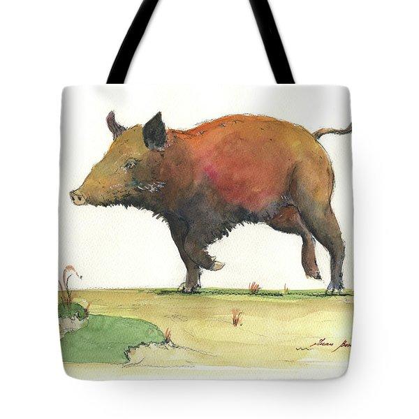 Wild Boar Delgadin Tote Bag