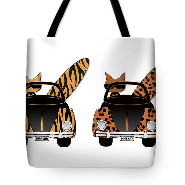 Wild Cats Go Surfing Tote Bag