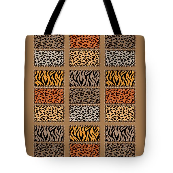 Wild Cats Patchwork Tote Bag