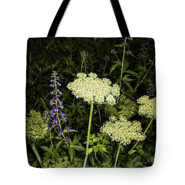Wild Celery And Larkspur Tote Bag