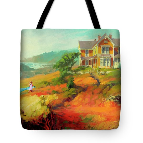 Tote Bag featuring the painting Wild Child by Steve Henderson