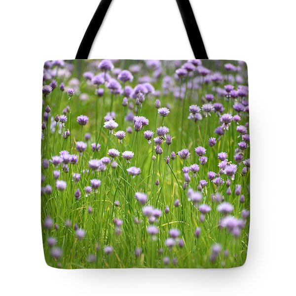 Tote Bag featuring the photograph Wild Chives by Chevy Fleet