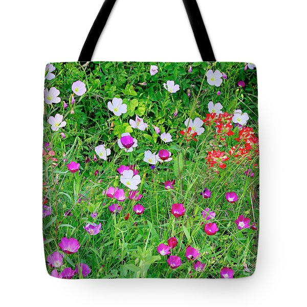 Tote Bag featuring the photograph Wild Color Patch by Charles McKelroy