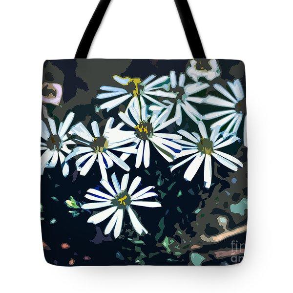 Wild Daisy Art  Tote Bag by Juls Adams