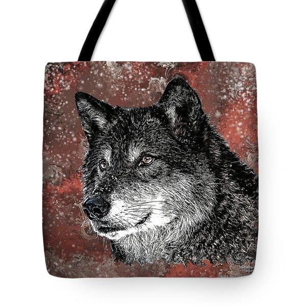 Wild Dark Wolf Tote Bag