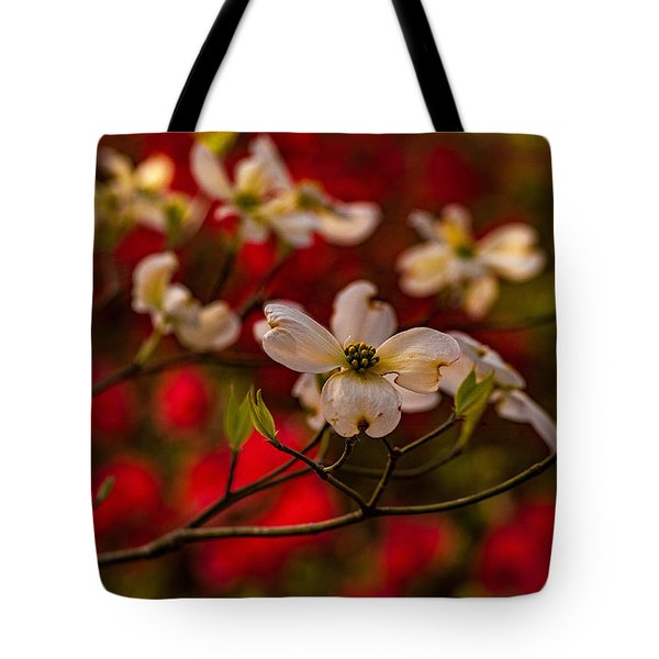 Wild Dogwood And Red Azaleas Tote Bag