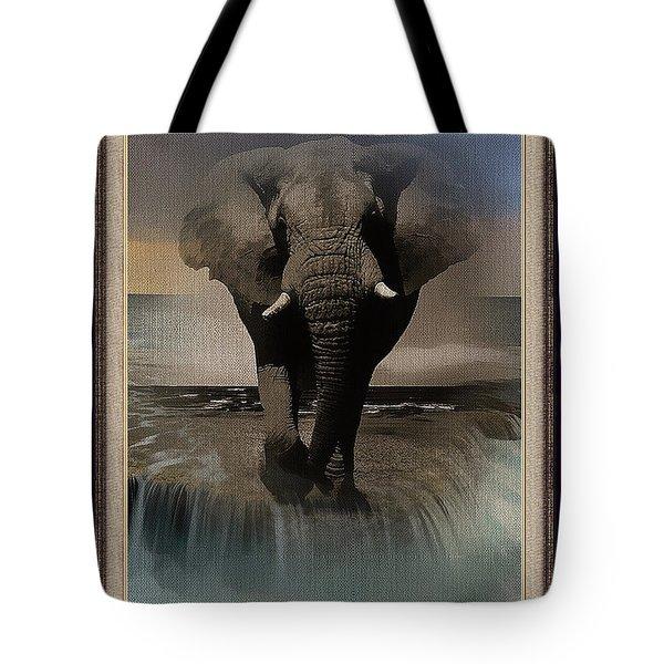 Wild Elephant Montage Tote Bag