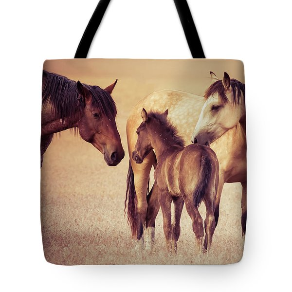 Wild Family Tote Bag by Mary Hone