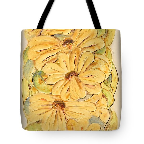 Wild Flower Abstract Tote Bag