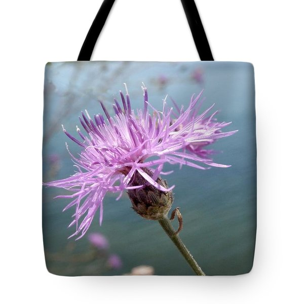Wild Flower By The Lake Tote Bag by Martha Ayotte