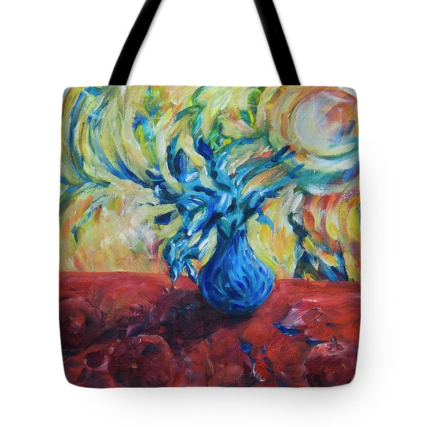 Tote Bag featuring the painting Wild Flower by Yulia Kazansky