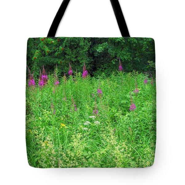 Wild Flowers And Shrubs In Vogelsberg Tote Bag