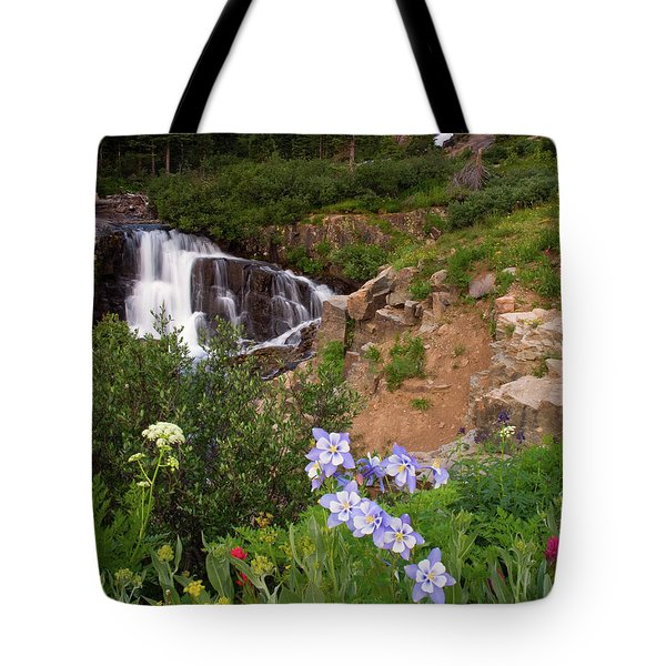 Wild Flowers And Waterfalls Tote Bag