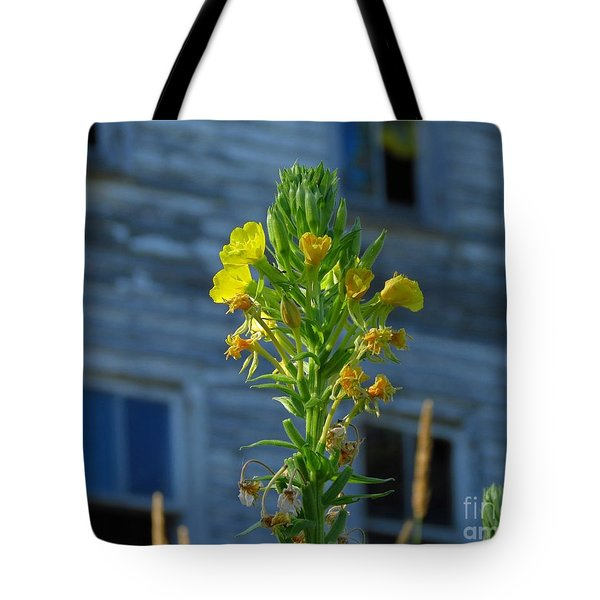 Wild Flowers At Abandoned Hotel Tote Bag