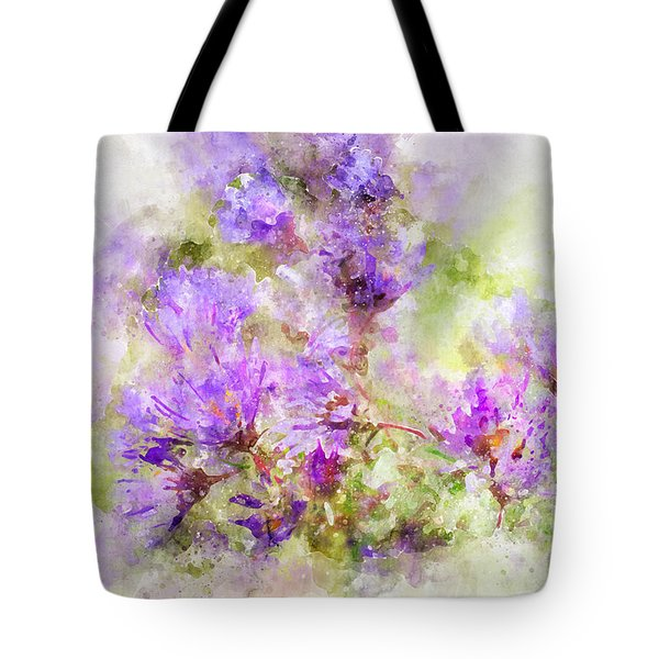 Wild Flowers In The Fall Watercolor Tote Bag