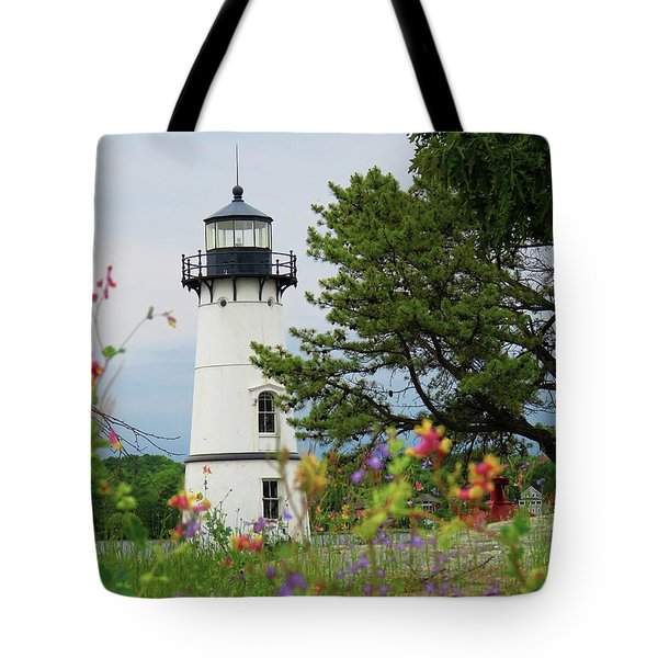 Wild Flowers On Rock Island Tote Bag