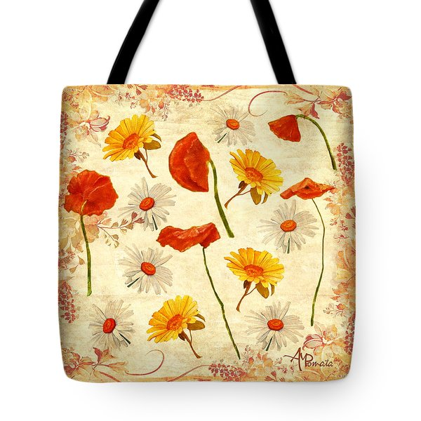 Wild Flowers Vintage Tote Bag