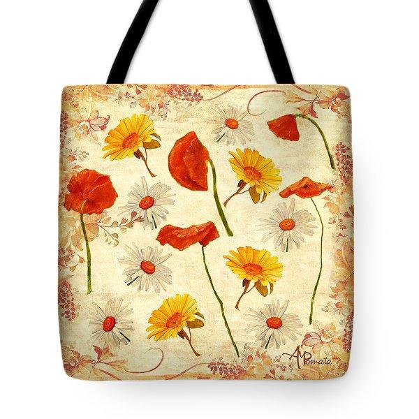 Wild Flowers Vintage Tote Bag