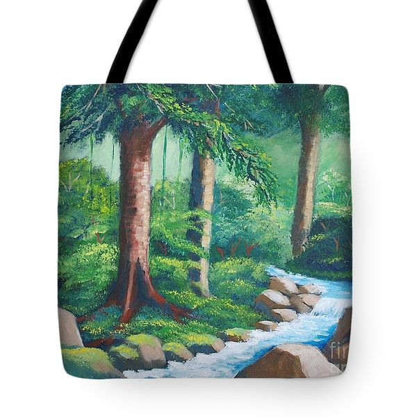 Wild Forest River Tote Bag