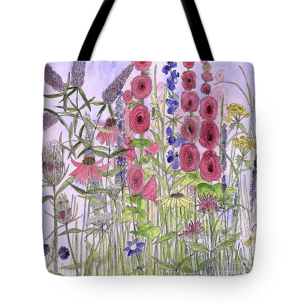 Wild Garden Flowers Tote Bag