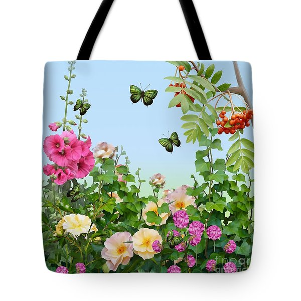 Tote Bag featuring the painting Wild Garden by Ivana Westin