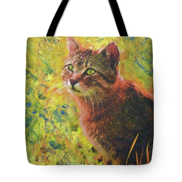 Wild Garden Tabby Tote Bag