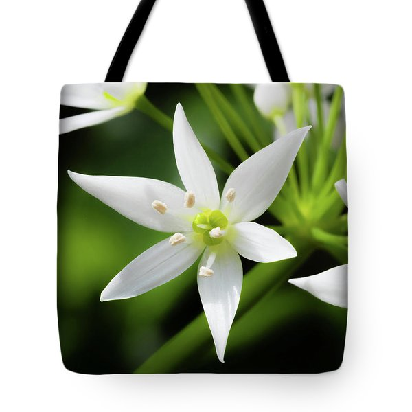 Wild Garlic Flower Tote Bag