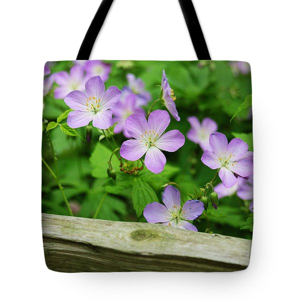 Wild Geraniums Tote Bag by Michael Peychich