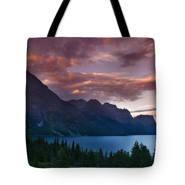 Wild Goose Island Glacier National Park Tote Bag by Rich Franco