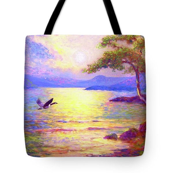 Wild Goose, Moon Song Tote Bag