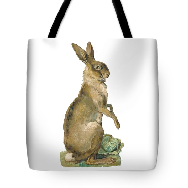 Tote Bag featuring the digital art Wild Hare by ReInVintaged
