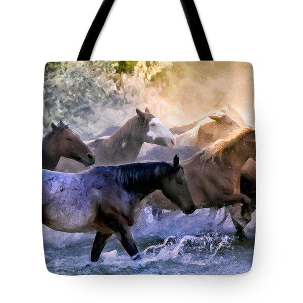 Wild Herd Tote Bag by Janet Fikar