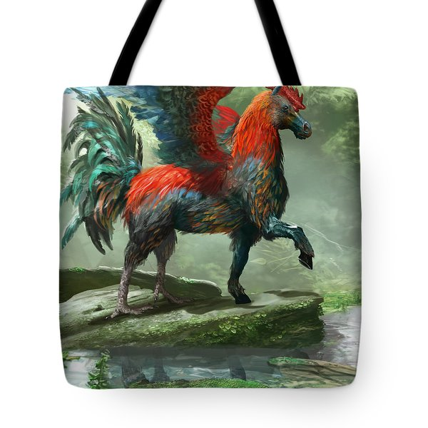 Wild Hippalektryon Tote Bag by Ryan Barger