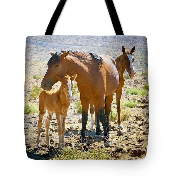 Wild Horse Family Tote Bag