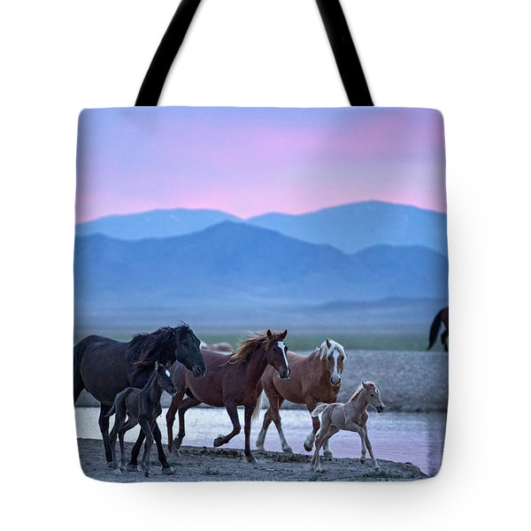 Wild Horse Sunrise Tote Bag